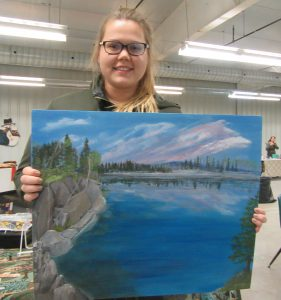 The winner of the free raffle was Kelsea Hunsperger; she went home with a painting donated by local artist, Millie Fletcher.