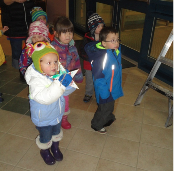 The children decorated stars that spell Wish Upon a Star in both English and French.
