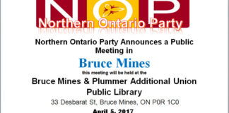 Northern Ontario Party Public Information Meeting