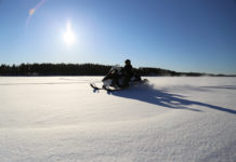 snowmobile ice