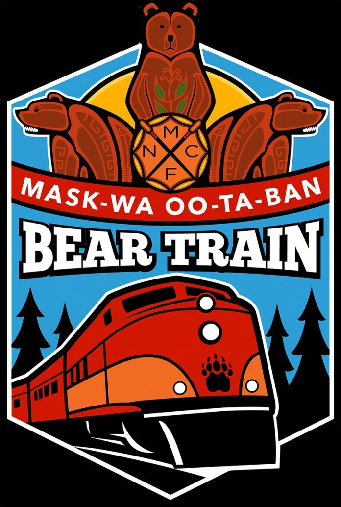 Mask-wa-Oo-ta-ban Bear Train
